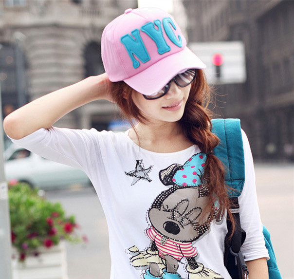 New arrival fashion women and men NYC baseball cap unisex Couple seasons outdoor Sun protection hat top cheap china(China (Mainland))