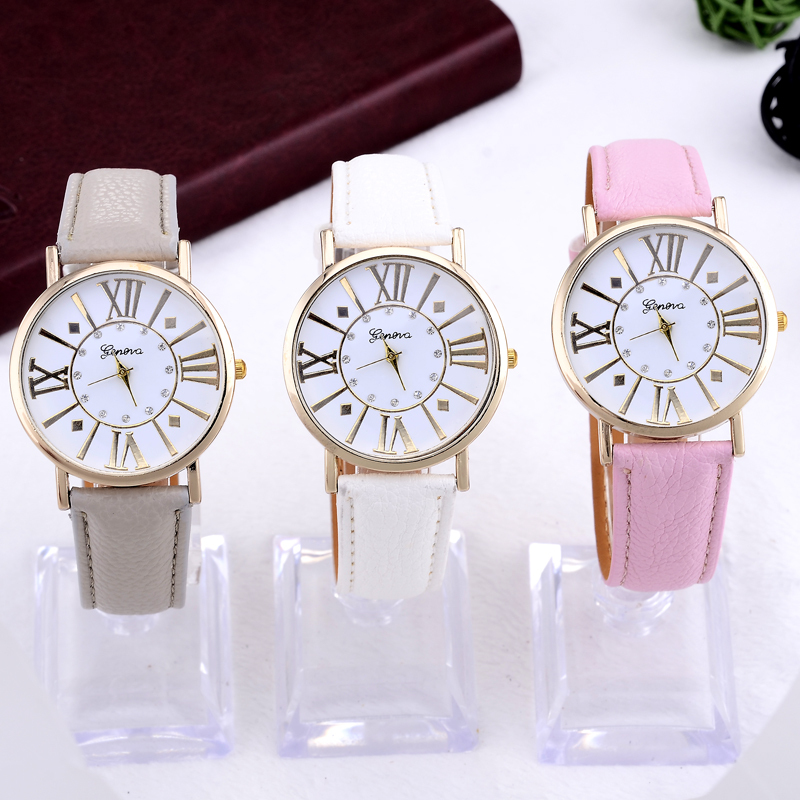 geneva luxury brand watch women fashion rhinestone watch ladies casual quartz watch hour clock montre femme relogio feminino(China (Mainland))
