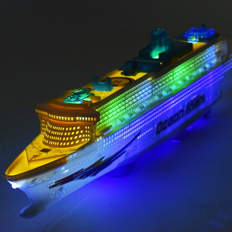 Kids's electrical toy boat mild emitting voice common music flash ship cruise yacht male lady presents