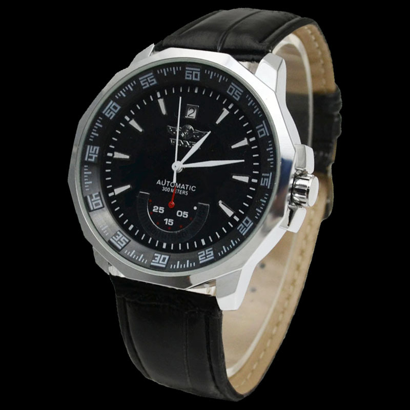 branded name winner mens classic stainless steel automatic