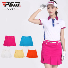 freeshipping PGM Ladies golf skirts Korean sports short skirt clothing summer woman girls kilt skirt wholesale Golf philabeg
