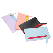 20 * 11cm Pencil Bags School Office Stationery Supplies Lady Women Clutch Long Purse PU Leather Wallet Card Holder Bag(China (Mainland))
