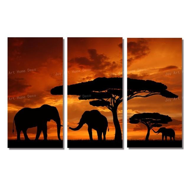 Cuadros modernos baratos elefante africano arte moderno de for Cuadros decorativos baratos precio