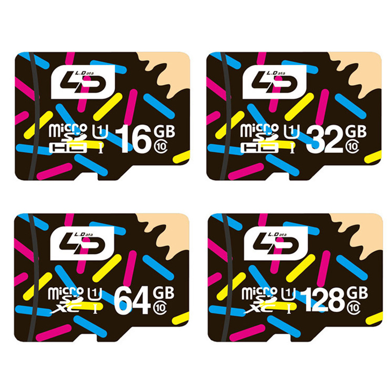 100% Original LD Micro SD Memory Card Microsd 16GB 32GB 64GB 128GB Class 10 UHS-1 H2test Real Capacity Official Verification(China (Mainland))