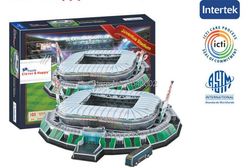 3D Puzzle Stadium Model DIY Real Madrid Juventus Bayern Munich Chelsea AC Inter Milan Liverpool FC Football Soccer Club Souvenir(China (Mainland))