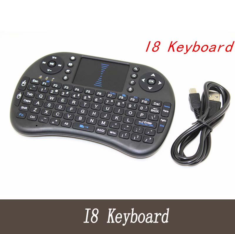 Rii i8 Keyboard English Air Mouse Multi-Media Remote Control Touchpad Handheld for Android TV& Laptop Tablet Mini PC(China (Mainland))