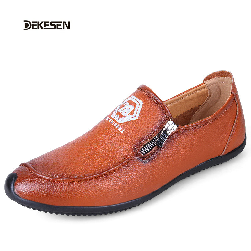 Men Shoes Genuine Leather Loafers Slip On Fashion Casual Driving Shoes Mocassins Flats Sapatos Masculinos Social Zapatos Hombre