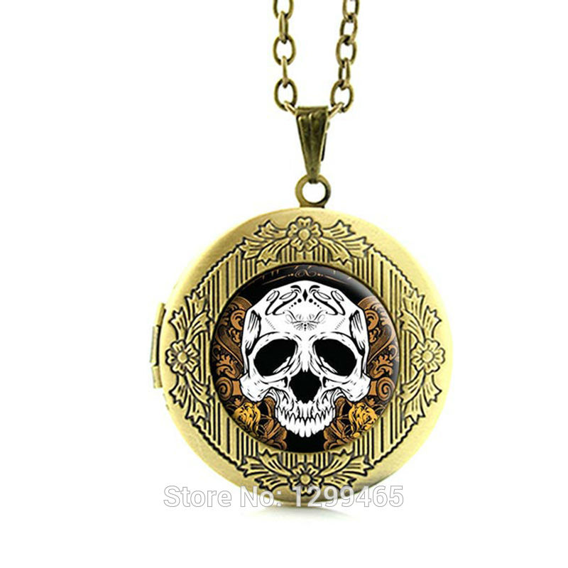 2015 New Fashion Picture Necklace Halloween jewelry glass cabochon dome locket pendant jewelry for men and women N158(China (Mainland))