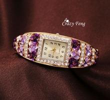 Fashion&Casual Luxury Crystal Watch Women Quartz Watches Flower Bracelet Female Wristwatch Relogio Feminino Female Clock