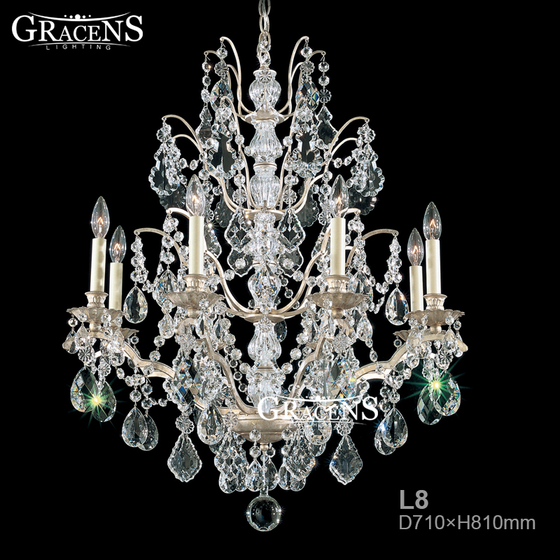 american rustic crystal chandelier lightings fixture clear glass lamp for living room dining room bedroom restaurant light - Cheap Chandeliers For Bedrooms