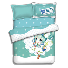 SNOW MIKU 2016 Duvet Cover Bedsheet Flannel Anime Bed Blanket