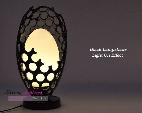 Free Shipping Discount Wholesale Fashion Creative Black Resin Table Lamp Desk Light Modern 1 Light Lamp