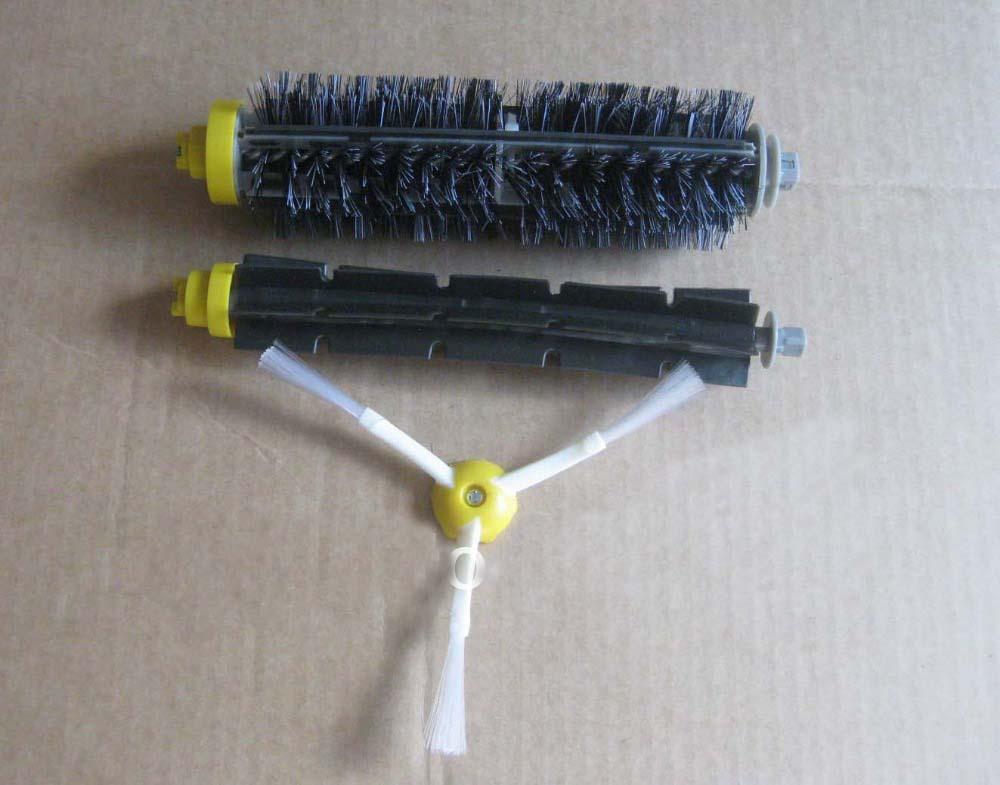 1 Bristle brush +1 Flexible Beater Brush +1Side Brush for iRobot Roomba 600 700 Series Vacuum Cleaning Robots 760 770 780 790(China (Mainland))