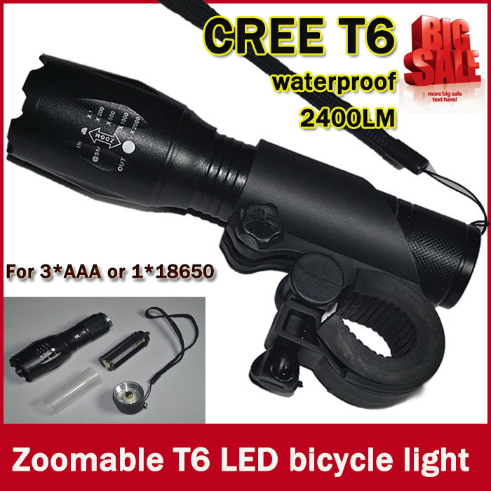 UltraFire E17 CREE XM-L T6 2000Lumens Bike Bicycle Flashlight Flash Light Torch With Mount Holder Free Shipping<br><br>Aliexpress