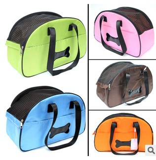 New 2015 hot portable dog bag for small dogs Mesh Breathable pet carrier bag carry for cats Five colors Retail Free shipping!(China (Mainland))