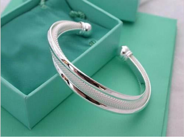 wholesale 925 Silver Dreamlike Bangle Bracelet Free shipping 925 jewelry,925 sterling Silver Bracelet YFB019(China (Mainland))