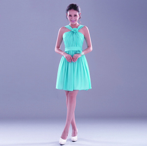 womens short elegant green dresses latest vestidos buy cocktail and party dress designs 2015 weddings free shipping S1596(China (Mainland))