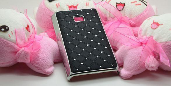 Free shipping ,Bling Crystal Diamond Plating Hard Rhinestone Case For   LG Optimus L3 E400 mobile cell phone case
