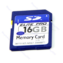 Free Shipping Good Quality 16GB 16G SD Secure Digital Flash Memory Card For Camera GPS + Case