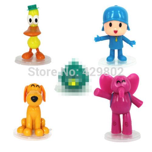 2015 Hot Sales Brand Brand New 5 pcs Cartoon Pocoyo Zinkia Dolls PVC Action Figures Kids Love Toy Gift(China (Mainland))
