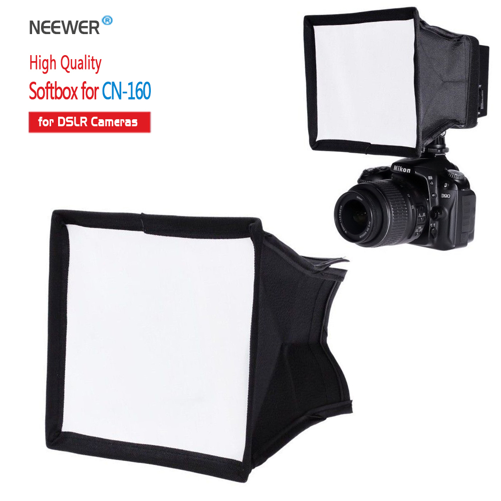 Neewer 5.9x6.7 / 15x17 cm Camera Collapsible Diffuser Mini Softbox for CN-160 LED Flash Light<br><br>Aliexpress
