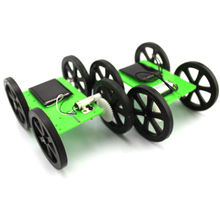 1pcs Mini Solar Powered Toy DIY Car Kit 5*44*60mm 4WD Smart Robot Car Chassis Green Energy RC Toy F17927/8(China (Mainland))