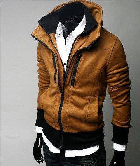 Free shipping man coat new fashion men jacket outerwear clothes slim style korea zipper jackets outdoor casual wear
