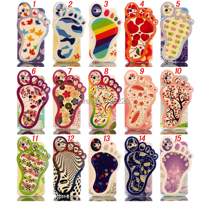 3D Soft TPU Jelly Gel Big Feet Sole Blue Laserf Foot Cellphone Case iphone 6 4.7'' Cover  -  Special Zone Trading Co.,Ltd store
