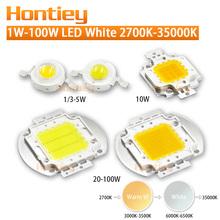 High Power LED Chip White light lamp bead 1W 3W 5W 10W 20W 30W 50W 100W Natural Warm Cool White Integration Bulbs COB Floodlight(China (Mainland))