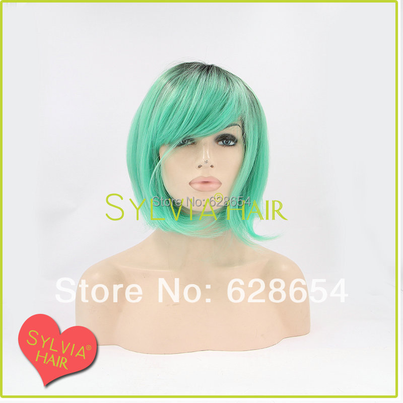 New 2014 green short lace front wigs for female bob wig<br><br>Aliexpress