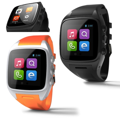 Free Shipping for Android 4.4.2 WIFI 3G Waterproof Smart Wrist Cell Phone Watch #gib(China (Mainland))