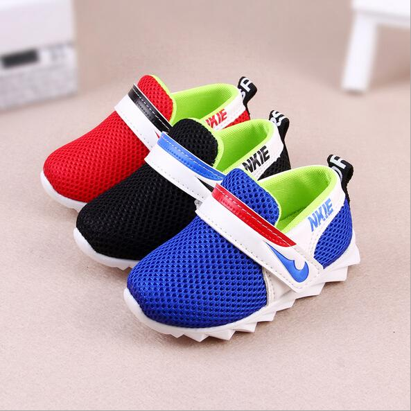 2016 boys giels first walkers new spring net breathable mesh sport baby shoes little children letter toddler shoes free shipping