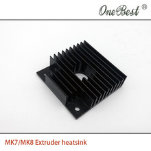10Pcs/lot 40x40x11mm heatsink For MK7/MK8 3D printer extruder heatsink Makerbot Fitting Aluminum Anode Black Free shipping
