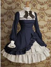 Горячая распродажа Ruffkes хлопок классический лолита платье