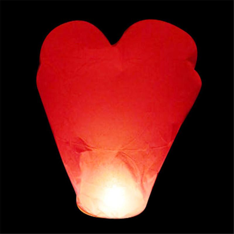 Heart shape 12pcs/lot Biodegradable flash sky lanterns wish lantern for luck wedding/party decoration free shipping(China (Mainland))