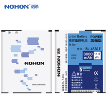 Original NOHON Battery For LG V10 H961N H968 F600 With High Capacity 3000mAh Replacement Battery(China (Mainland))
