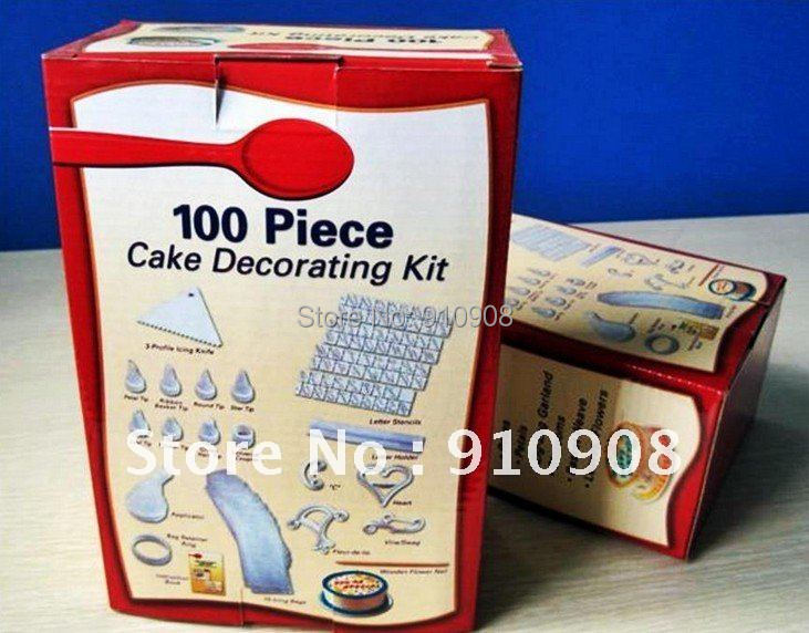 Cake Design Starter Kit : 100 piece cake decorating kit Betty Crocker As seen on TV ...