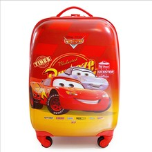 18 Inch CAR suitcase for kids luggage travel Suitcase kids travel trolley bag(China (Mainland))