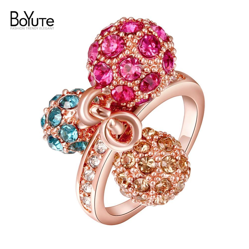 2016 new style cheap finger rings wholesale 18k real