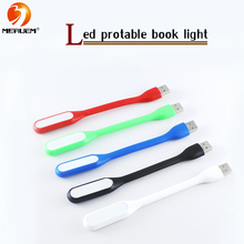Free shipping 100% New Original USB Led Book Lamp For Reading Lights Mini Chip Adjustable Lighting In White/Blue/Green/Red/Black(China (Mainland))
