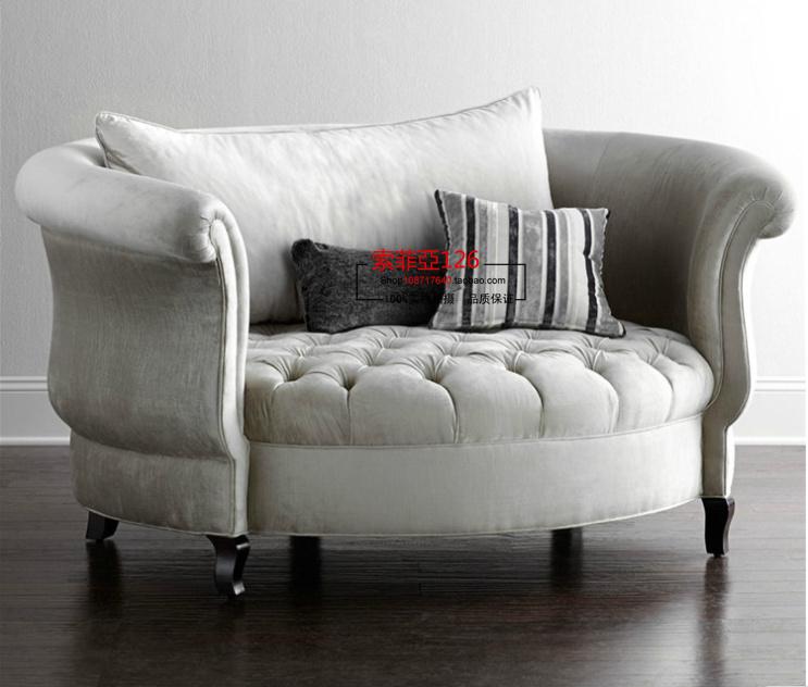 american special new european single circular sofa french