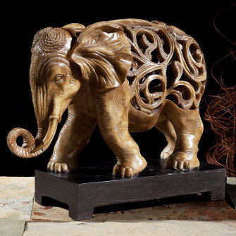Decoration desk auspicious pastoral style jewelry retro furnishings entrance decorated like an elephant ornaments