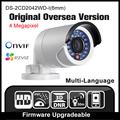 HIKVISION DS 2CD2042WD I 6mm Original English Oversea Version IP camera POE security Camera P2P Onvif