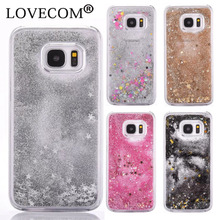 Buy Samsung Galaxy S5 S7 S6 Edge Plus Note 5 Cover Glitter Star Bling Colorful Dynamic Quicksand Liquid Clear Hard Phone Case for $1.85 in AliExpress store