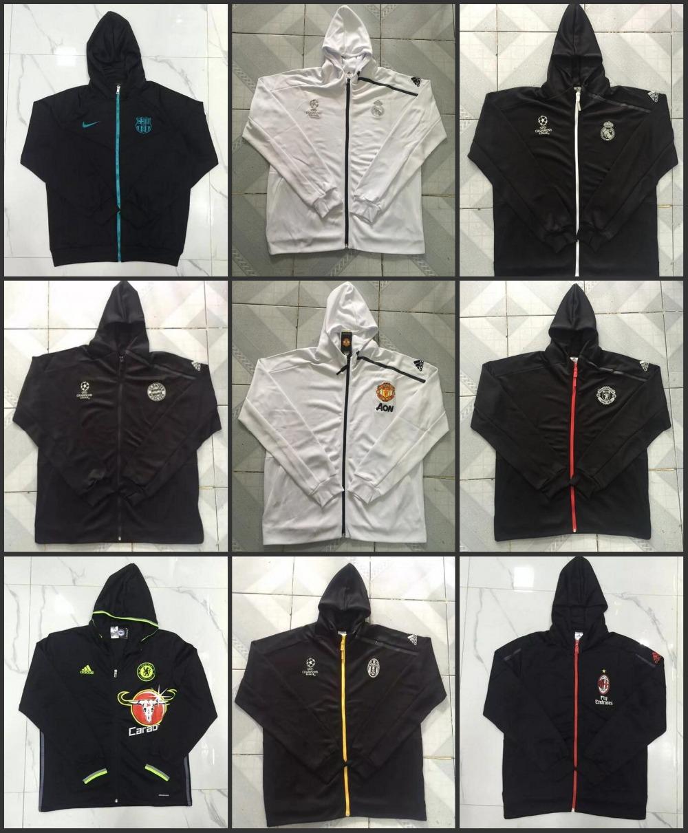 Bayernes Muniches 2017 Barcelonaes Best Quality Thai Edition Jacket 16/17 Realed Madrided Jacket Juventuses Free Shipping(China (Mainland))
