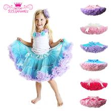 Magasins d'usine mode Fluffy mousseline Pettiskirts tutu bébés filles jupes princesse jupe danse porter des vêtements parti livraison gratuite(China (Mainland))