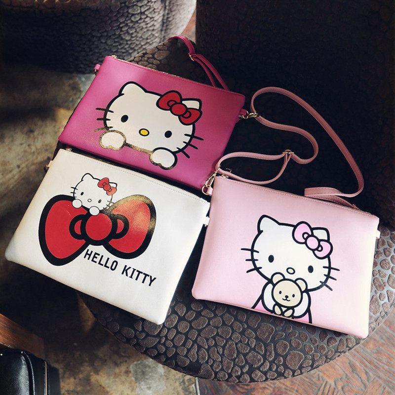 2015 new cute Hello Kitty ladies Messenger bags Mickey Minnie womens shoulder bag, Donald Duck crossbody bags for teenage girls<br><br>Aliexpress