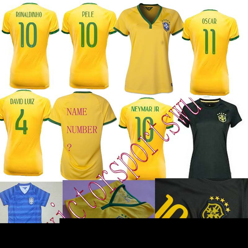 14 15 Thailand quality2014 brazil soccer jersey top thailand quality t shirt brazil 2015 brazil woman football shirt oscar neyma(China (Mainland))