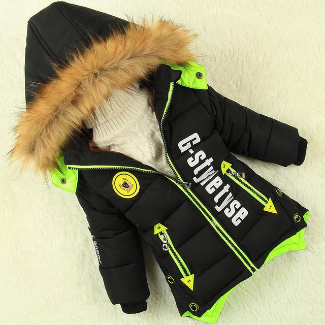 Мужской ребенок ватные куртки детская одежда зимний верхней одежды ребенка мальчик утолщение хлопка-ватник детей baby