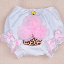 Newborn Ruffle Cotton Baby Bloomers Diaper Cover Tutu Ruffled Panties Leopard Birthday Shorts Infant  Baby Girl Bloomers(China (Mainland))